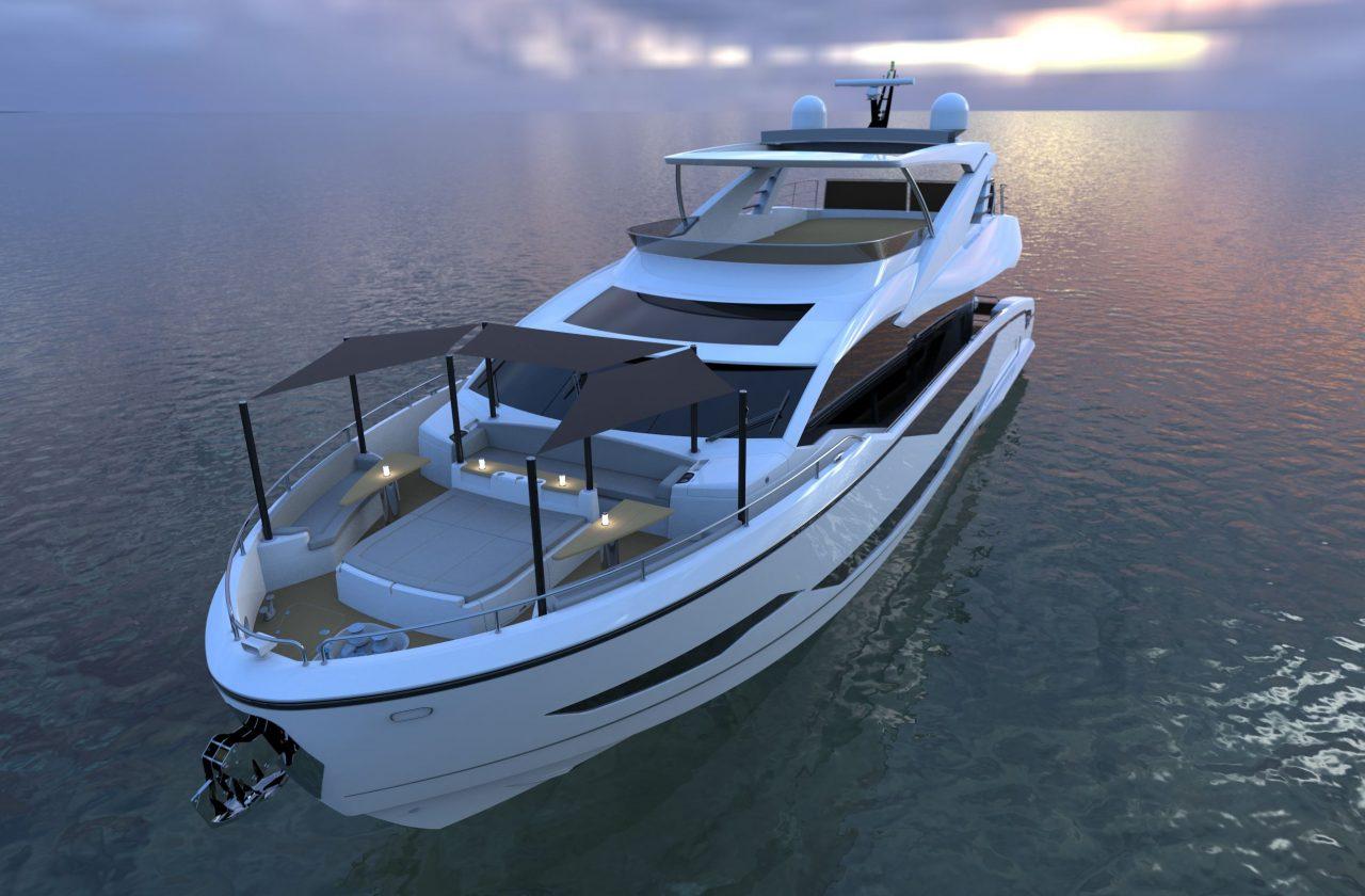 Sunseeker 87 Yacht | Экстрьер 9