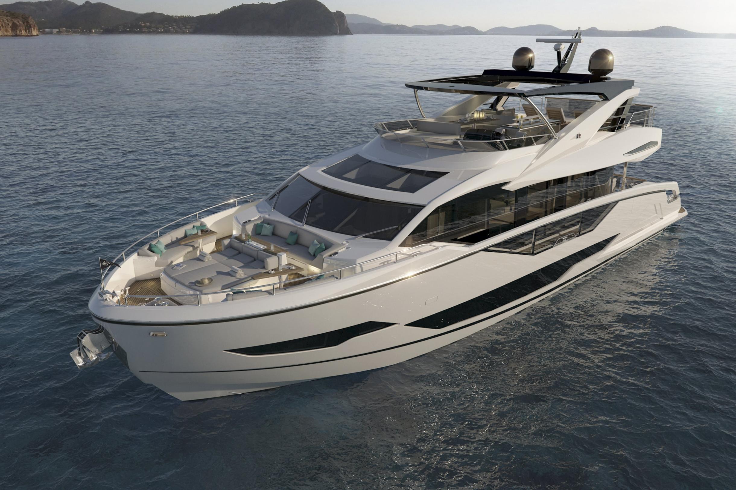 Sunseeker 87 Yacht | Экстрьер 0