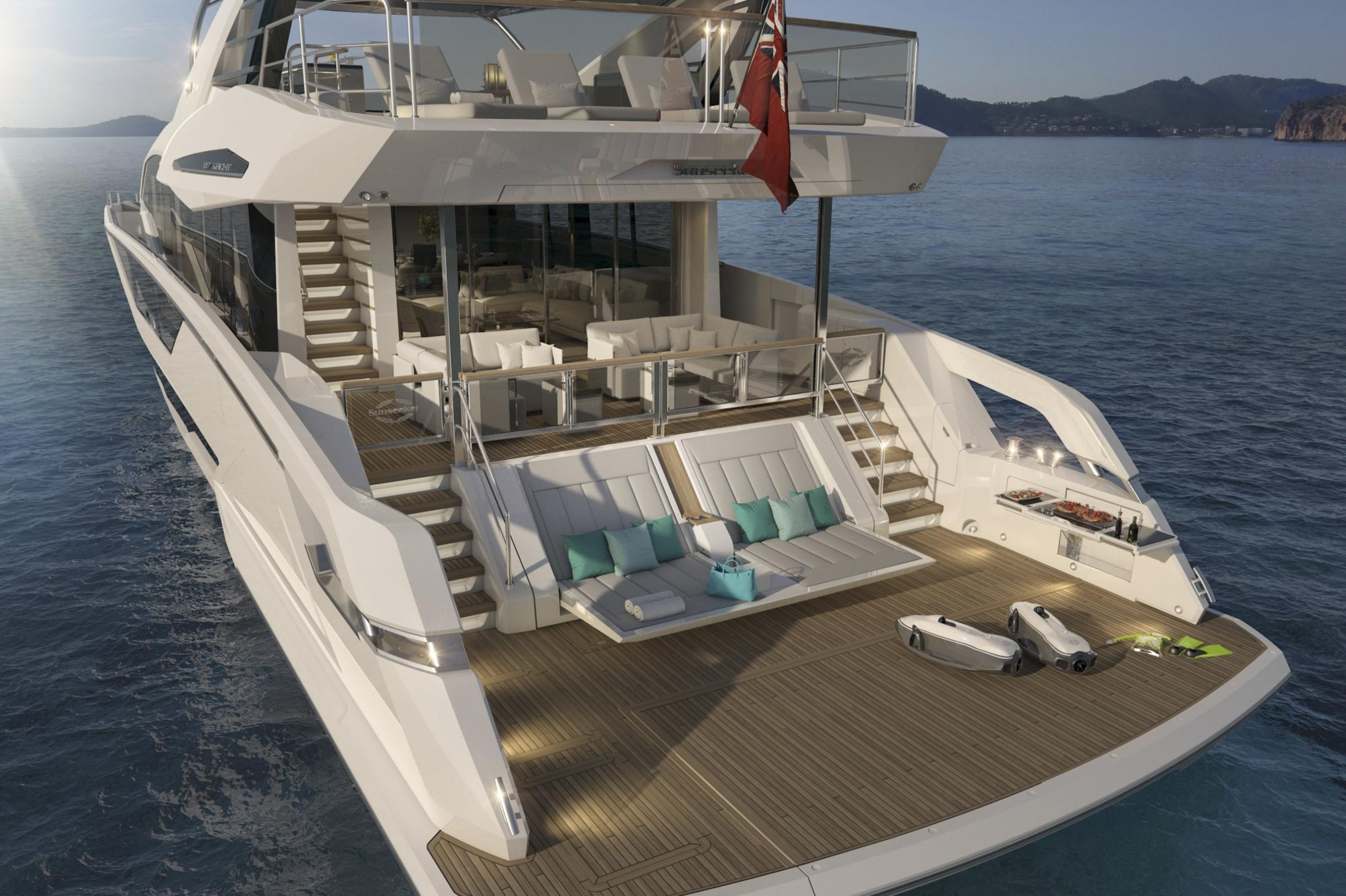 Sunseeker 87 Yacht | Экстрьер 2