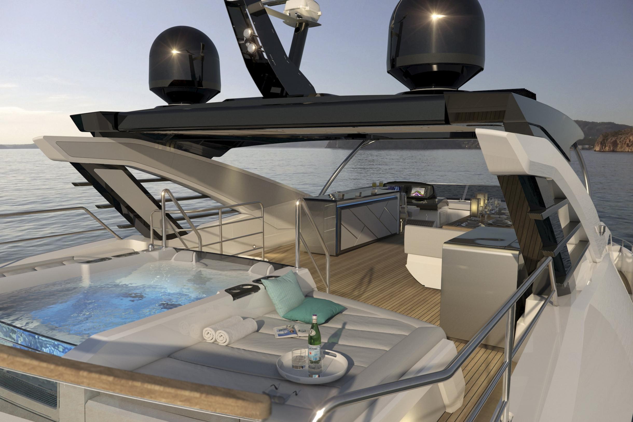 Sunseeker 87 Yacht | Экстрьер 3