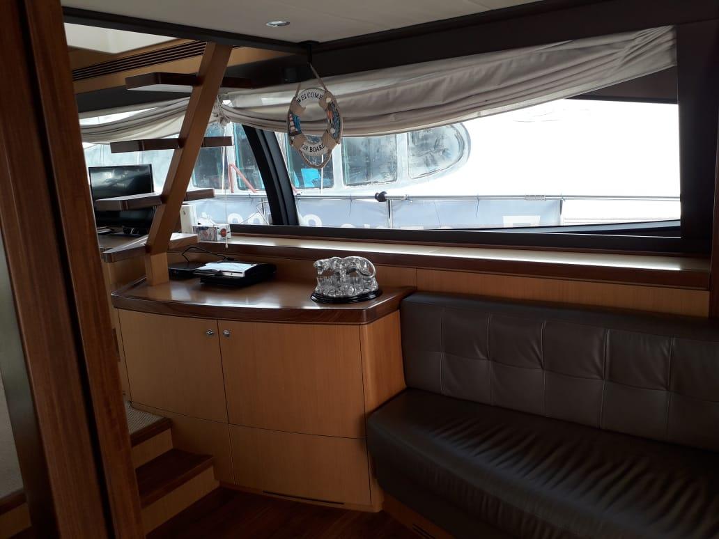 Яхта Ferretti 550 | Интерьер 4