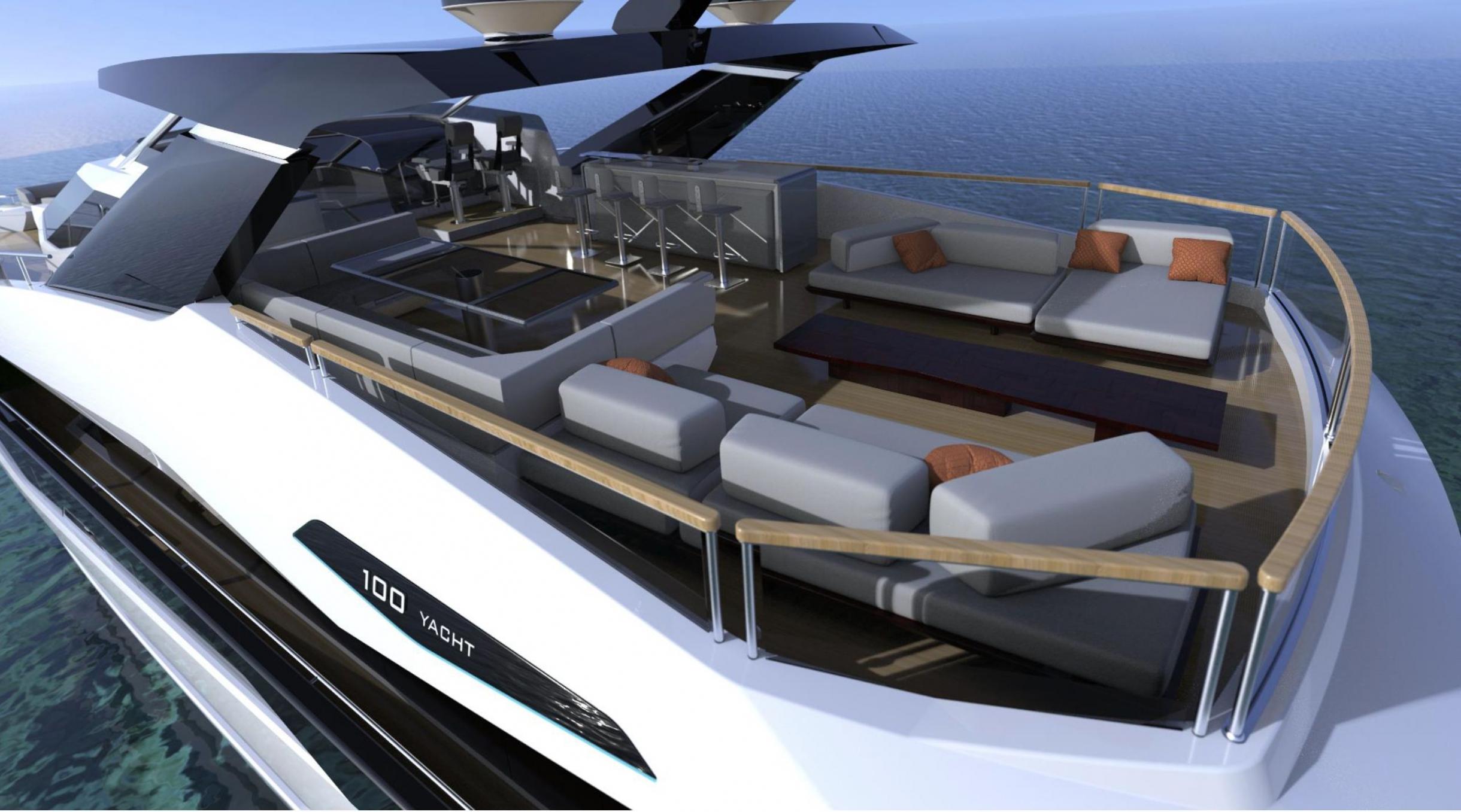 Sunseeker 100 Yacht | Экстрьер 9