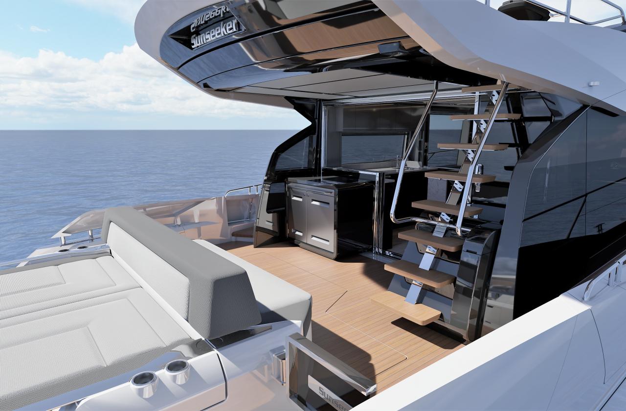 Sunseeker 65 Sport Yacht | Экстрьер 6