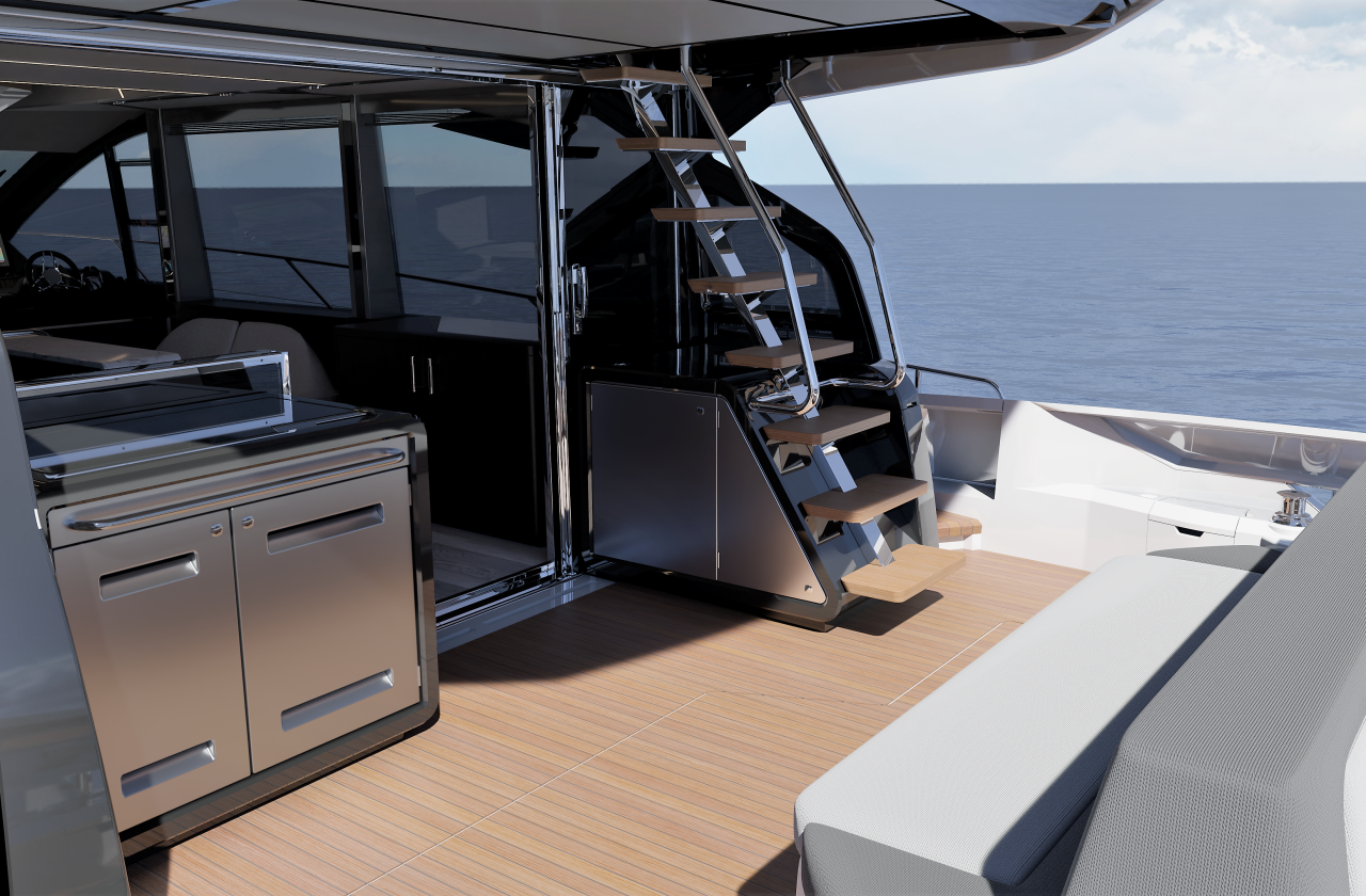 Sunseeker 65 Sport Yacht | Экстрьер 7