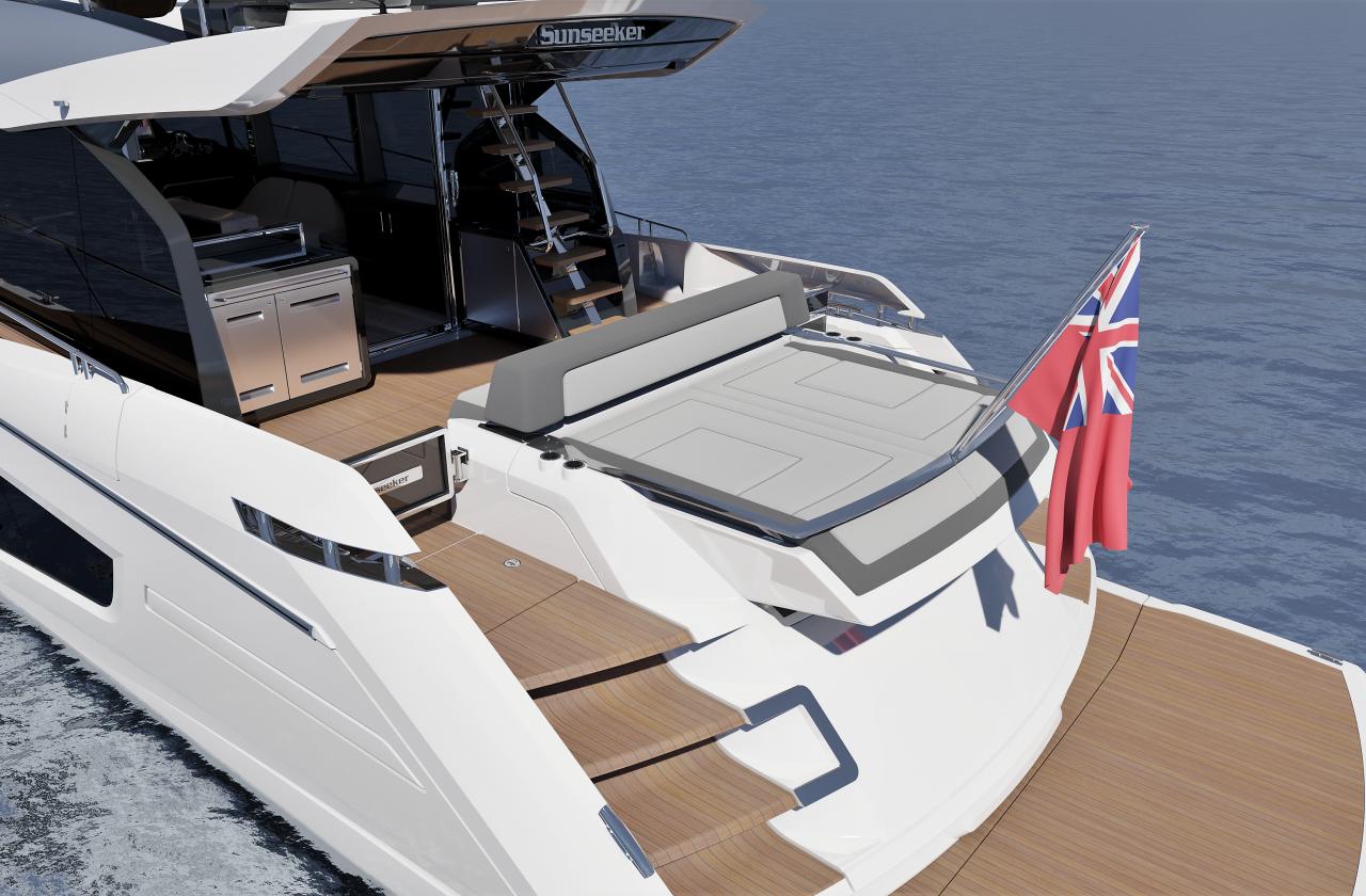 Sunseeker 65 Sport Yacht | Экстрьер 3